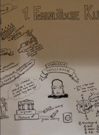 FeministischeKlimakonferenz Zeichnung